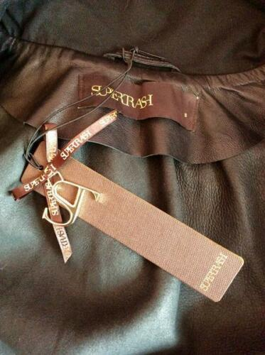 S New Jacket Brand Size Supertrash Leather Black 7cYnng0qd