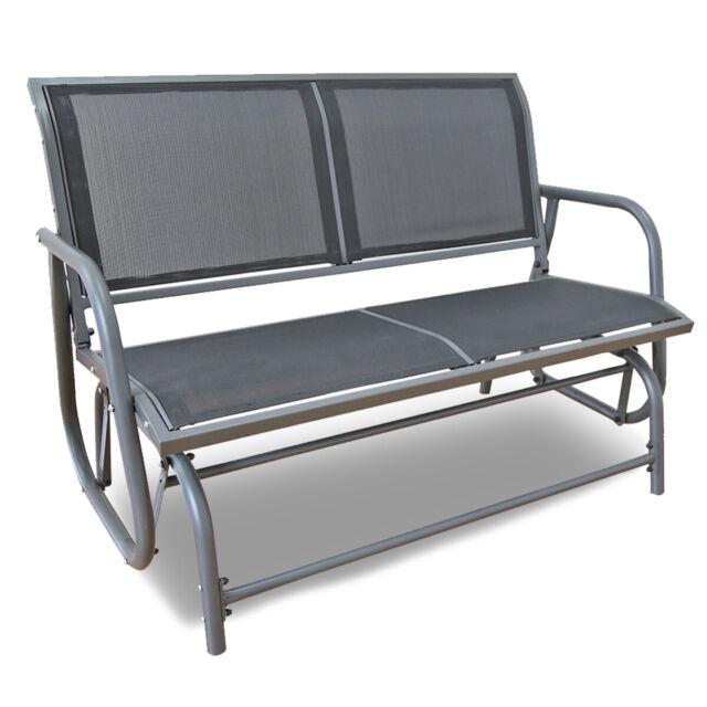 Outdoor Swing Glider 2 Person Patio Rocking Chair Loveseat Bench Furniture  Yard