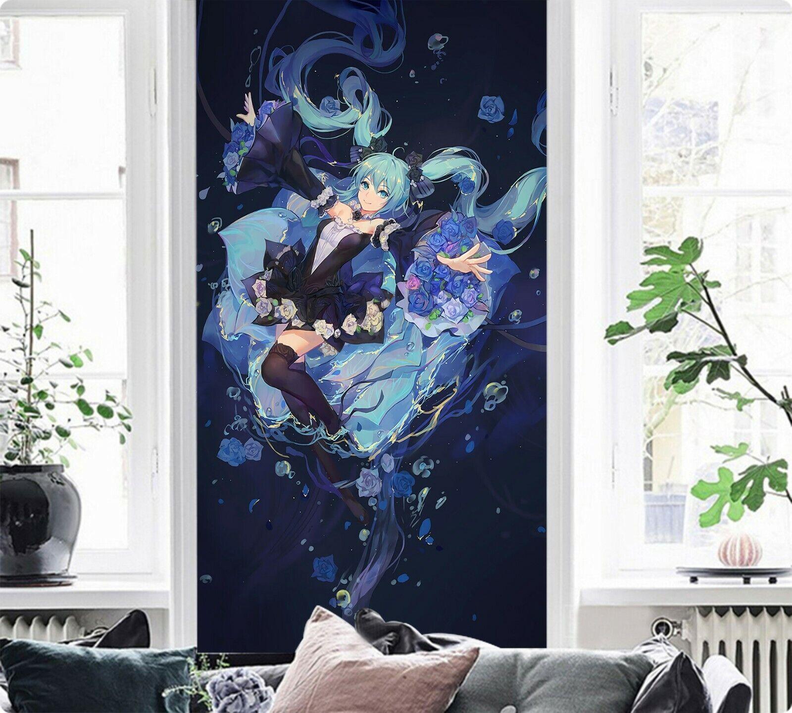 3D Hatsune Miku 229 Japan Anime Game Wallpaper Mural Poster Cartoon Cosplay US