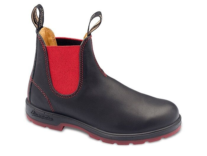 Blundstone Women's BLACK AND RED HERITAGE VOLTAN LEATHER CASUAL Boots 1316