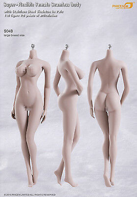 TBLeague 1:6 Scale S04B Female Pale Skin Action Figure Flexible Seamless Body