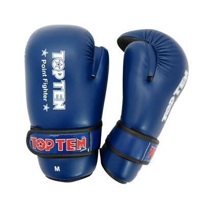 Top Ten Glossy WAKO Kickboxing Pointfighter Gloves White//Gold