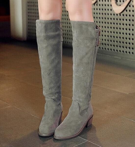 Stiefeletten stiefel schuhe militärschuhe frau absatz 6 cm simil grauem leder