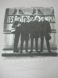 The-Beatles-Foto-in-Anteriore-di-Francese-Segno-Grande-Grigio-T-Shirt
