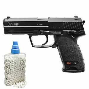 SET-Heckler-amp-Koch-USP-Softair-Pistole-6-mm-BB-lt-0-5-Joule-P14-800-BB