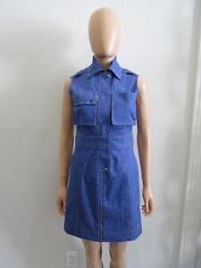 Image Is Loading Nwot Derek Lam 10 Crosby Sleeveless Denim Dress