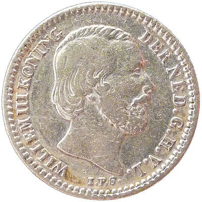 1901 Silver Netherlands 10 Cents VF