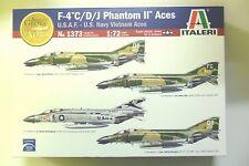 ITALERI 1:72 KIT F-4 C/D/J PHANTOM II ACES USAF US NAVY VIETNAM ACES  ART 1373