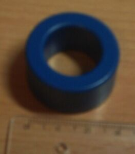Balun Mantelwellensperre: Eisenpulverkern / Ferritkern blau (3,1 x 1,5 cm) - NEU