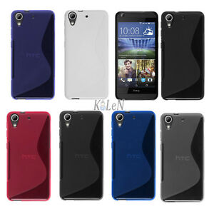 S-Line-Rubber-Soft-Gel-TPU-Silicone-Case-Skin-Cover-For-HTC-Mobile-Phones