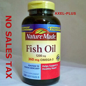 Nature made fish oil 1200 mg 360 mg omega 3 200 liquid for Nature s bounty fish oil review