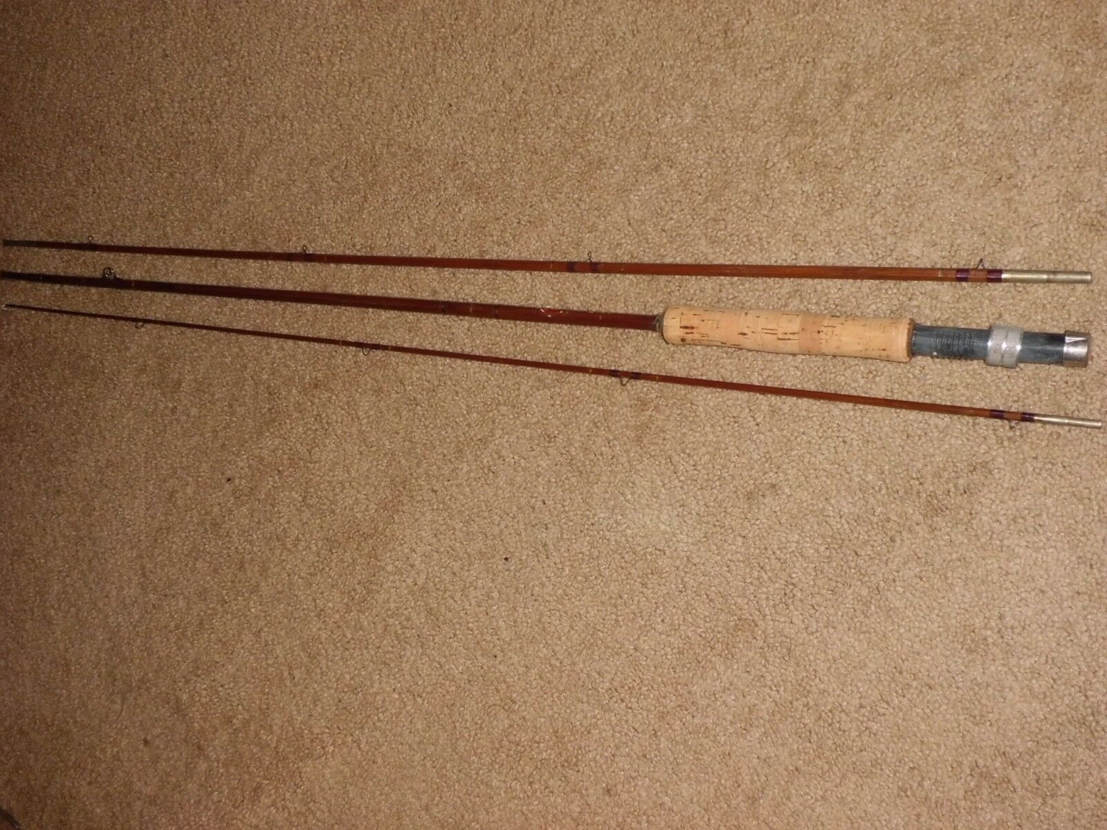 Vintage Sport King M34 Split Bamboo 3pc Fly 9' Rod made in USA