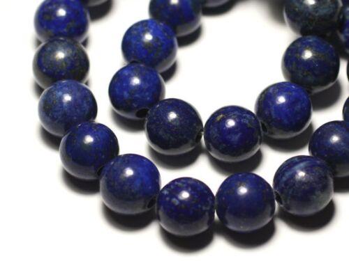 8741140019447 Lapis Lazuli Boule 14mm gros trou 3mm 1pc Perle de Pierre