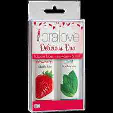 1 ORALOVE delicious duo STRAWBERRY & MINT lickable lubes