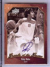 2010 GREATS OF THE GAME RICKY RUBIO AUTO!! SP