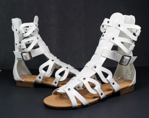 atta-1 Fashion Flats Zipper Buckle Sandals Gladiator Casual Party Women/'s Shoes