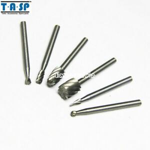 6pc HSS Routing Router Bits Set Grinding Bits Burr Milling Power Rotary Tool S3
