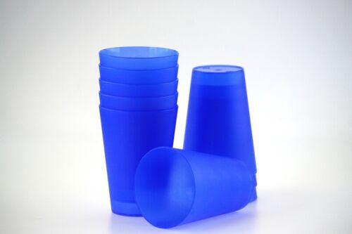 21 Plastik Trinkbecher 0,4 l Mehrwegtrinkbecher Partybecher Becher 7 Farben NEU