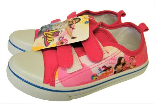 DISNEYS Pink Soy Luna Canvas Pumps  Infants Kids Girls Trainers UK Sizes 10-2.5