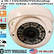 6x HD CVI SONY CMOS 1080p 2.4MP 2.8-12mm VF Varifocal Dome Camera HDCVI OSD DWDR