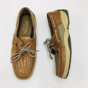 Sperry-Top-Sider-Men-039-s-Intrepid-Casual-Boat-Shoe-Tan-Leather-P-O-Pick-a-Size
