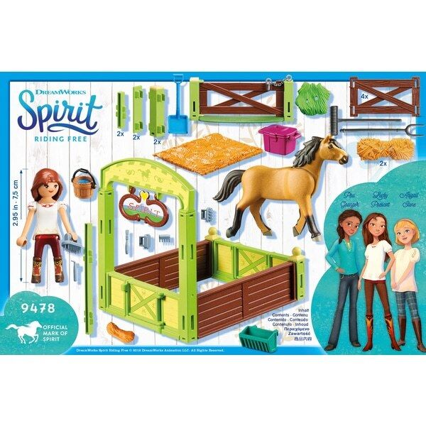 Playmobil 9478 DreamWorks Spirit Horse Box  Lucky & Spirit