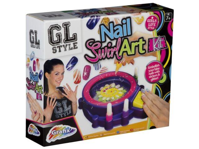 Grafix GL Style Nail Swirl Art Kit Age 7 | eBay