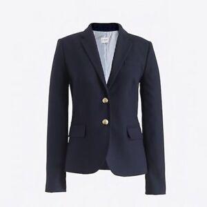 J. Crew Women's Navy Blue Wool Blazer Size O