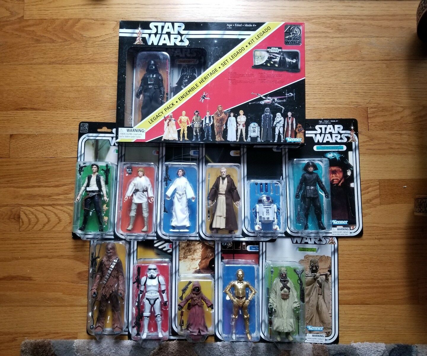 Hasbro Star Wars 40th Vintage Legacy Collection 12 figures R2D2 Sand People Leia