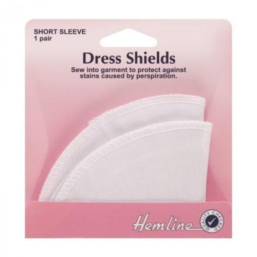 Dobladillo vestido manga corta blanco escudos en medio las manchas de transpiración proteger