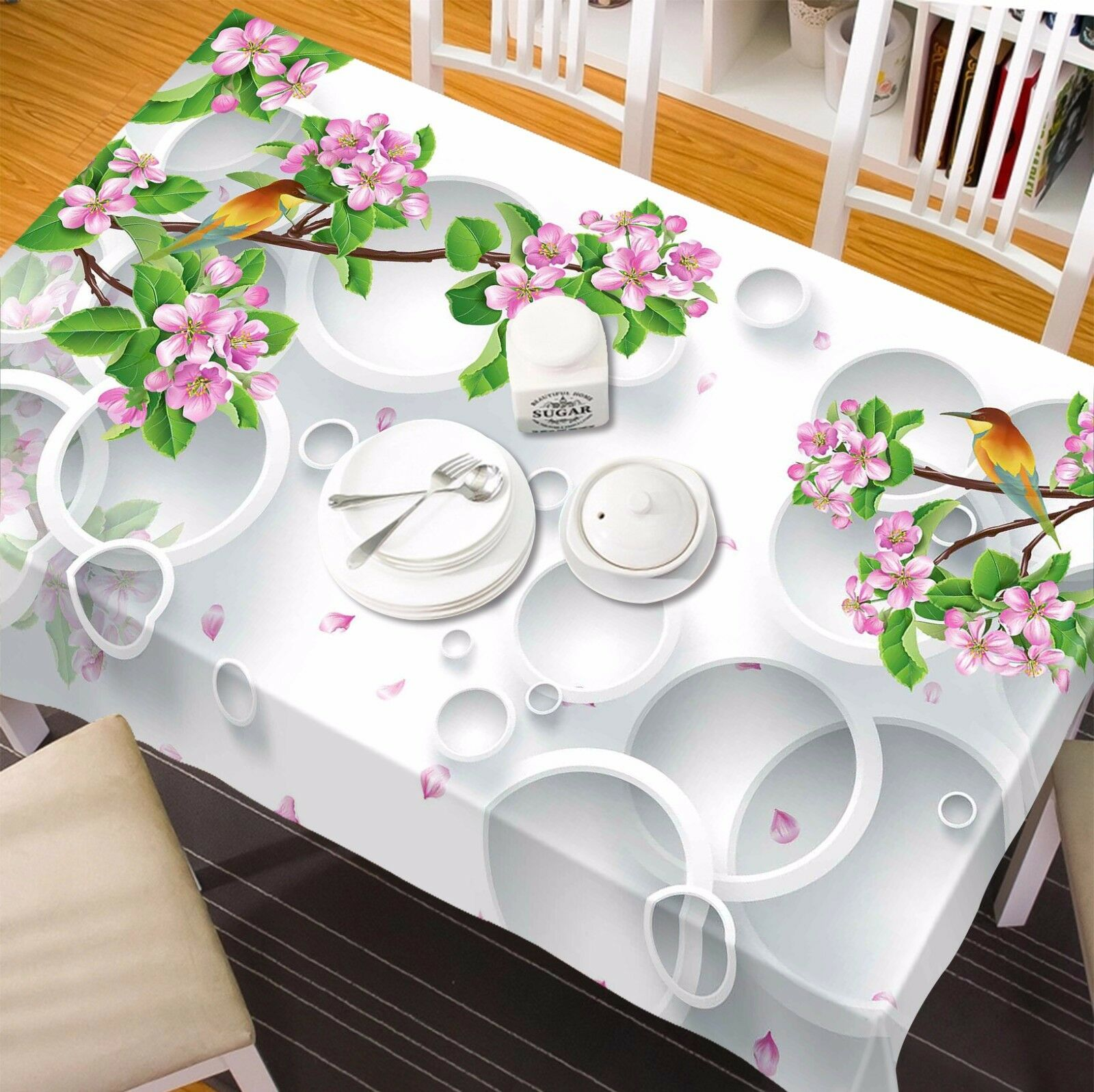 3D Peach 89 Tablecloth Table Cover Cloth Birthday Party Event AJ WALLPAPER AU