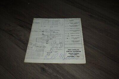 1968 Cadillac Eldorado factory chassis wiring diagram | eBay