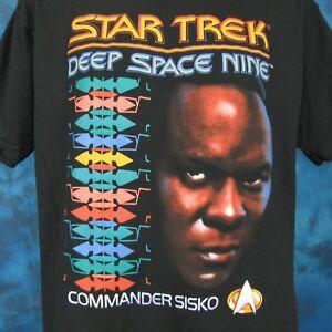 vintage-90-STAR-TREK-DEEP-SPACE-NINE-SISKO-T-Shirt-LARGE-XL-sci-fi-tv-show-space