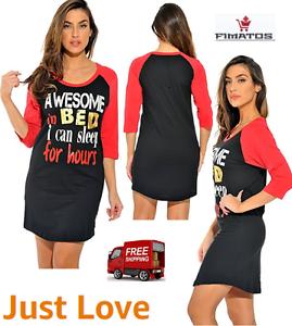 4eb381ed88 Just Love Sleep Dress for Women   Sleeping Shirt  Nightshirt Black ...