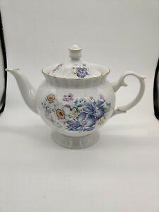 Vintage-Chodziez-Poland-Floral-Tea-Pot