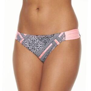 SO-Juniors-Size-XS-S-M-XL-Peach-Coral-Black-White-Tribal-Bikini-Bottom-Swim