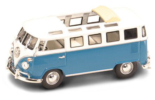 White 1:43 Model YAT MING Volkswagen VW Microbus 1962 Blue