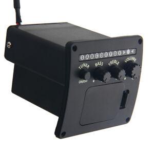 Schwarz-Akustikgitarre-EQ-3-Band-Equalizer-Set-Preamp-Pickup-Piezo