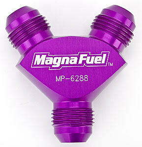 MagnaFuel MP-6288-Blk Y Fitting 8 x 8 x 8 Black @ Speed Tech