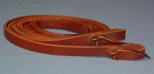 3 4  x 8'  1 OILED HARNESS LEATHER Split Reins Weißhted ends - WORKING QUALITY