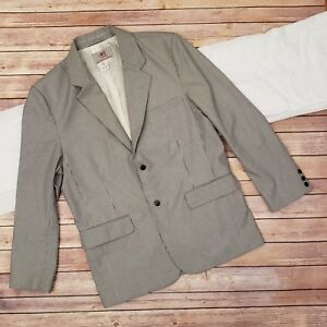 Mens-The-Territory-Ahead-Blue-White-Striped-Blazer-Jacket-Coat-Size-42-Regular