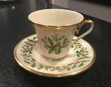 LENOX HOLIDAY DIMENSION CUP AND SAUCER