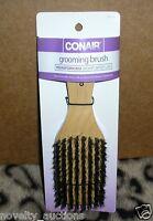 K62 Conair Grooming Hair Brush Reinforced Boar Bristles Smooth & Shine 95115