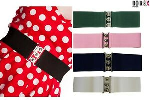 HELL BUNNY White Retro 50s Rockabilly Nurses Cinch Elasticated Waist Belt