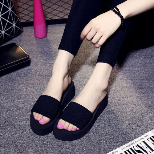 Fashion Women Flip Flops Summer Beach Wear Home Casual Slippers Open Toe Shoes