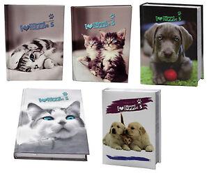 i-Love-Puppies-Gatto-Gattino-Cane-Cuccioli-Diario-Pocket-12-mesi-Italiano-Scuola