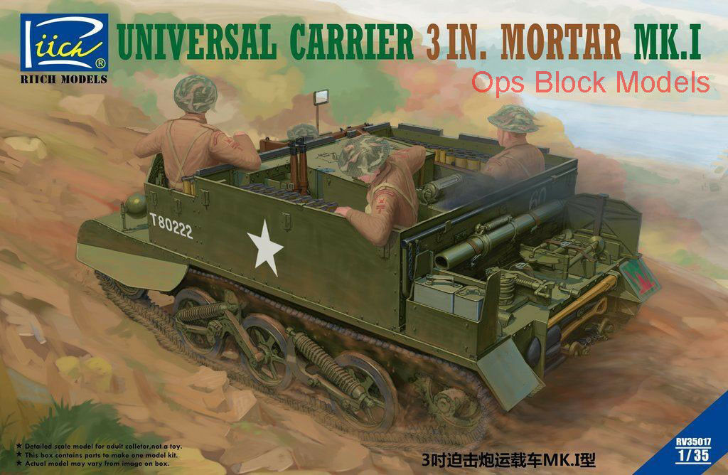 RIICH MODELS 1 35 UNIVERSAL CARRIER 3in MORTAR Mk.I