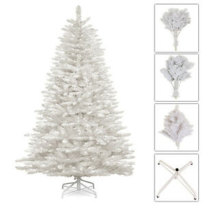 best sneakers 154a8 e6f6b Details about Luxury 5ft,6ft,7ft WHITE Colorado Artificial Christmas Tree  Pine Tip Metal Stand
