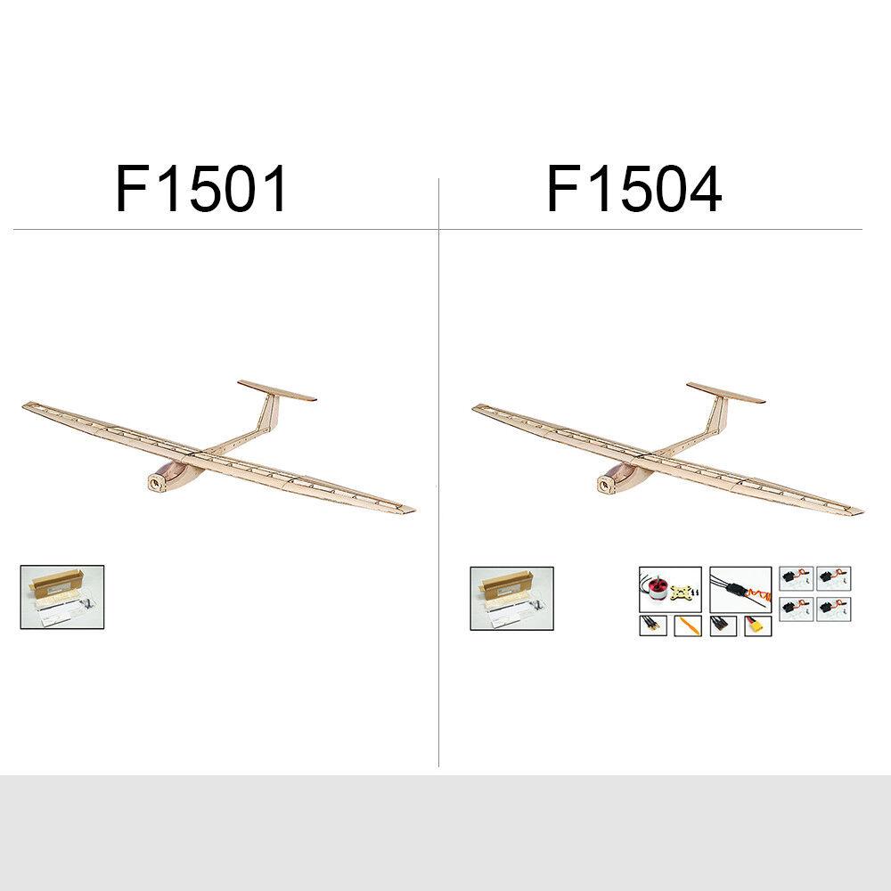 Bau - holz - flugzeug f1504   f1501 rc flugzeug gleiter 1550mm w   kfz - s1g5 esc