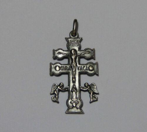 GRANDE CROCE di CARAVACA argento 925 brunito Sterling silver